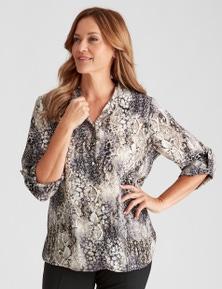 Millers 3/4 Roll Sleeve Print Shirt
