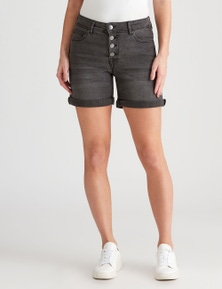 Crossroads Button Front Short