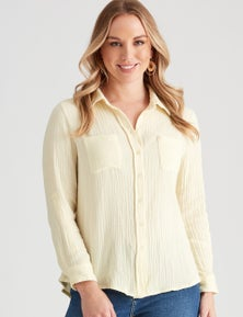 Crossroads Textured Popover Shirt