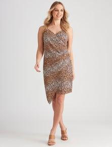 Crossroads Ruched Side Asymmetrical Dress