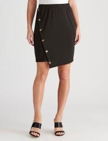 Crossroads Side Button Asymmetrical Skirt