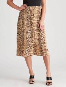 Crossroads Reptile Button Skirt
