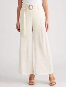 Crossroads Belted Lurex Pant