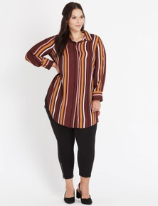 Autograph Berry Stripe Shirt