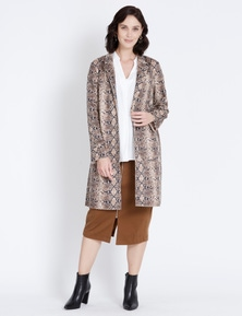 Katies Soft Suedette Coat