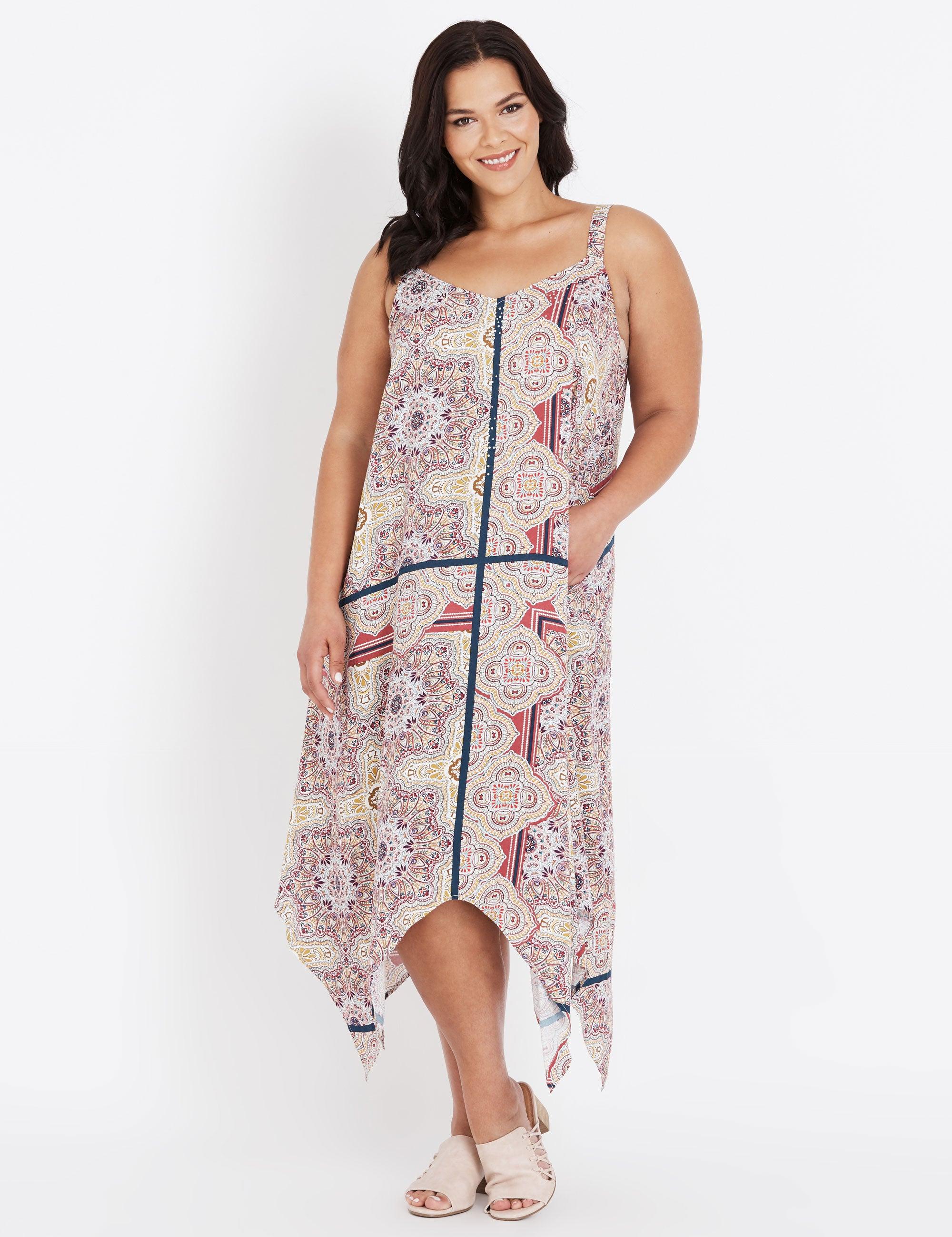 Peach Crochet Maxi Formal Plus Size Dress