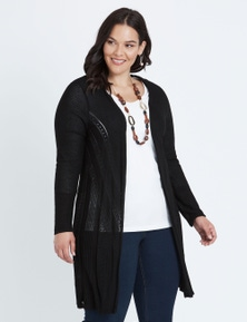 Autograph 3/4 Sleeve Pointed Cardigan