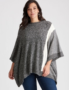 Autograph Textured Poncho