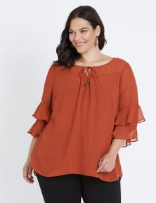 Autograph Fluted Sleeve Blouse