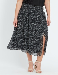 Autograph Shirred Waist Skirt
