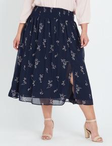 Autograph Shirred Waist Skirt