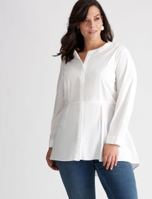 Autograph Stretch Cotton Hi Lo Blouse