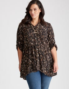 Autograph Sleeved Button  Front Tunic