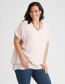 Autograph Textured Layered Blouse