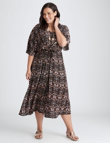 Autograph Woven Extended Sleeve Tie Maxi Dress
