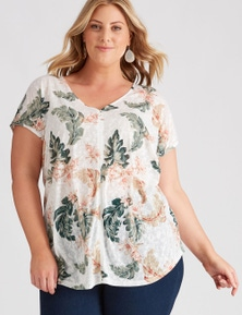 Autograph Knit Seamed Front Top