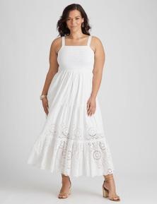 Autograph Cotton Tiered Dress