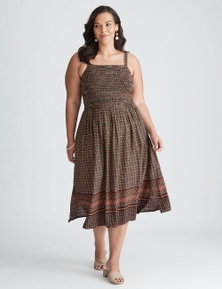 Autograph Woven Shirred Bodice Dress