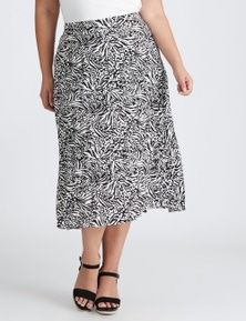 Autograph Woven Pleated Midi Skirt