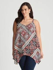 Autograph Woven Strappy Embellished Hanky Hem Tunic