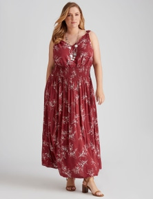 Autograph Woven V Neck Long Dress