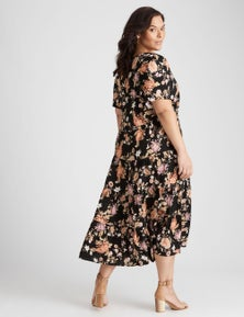 Autograph Woven Tiered Dress