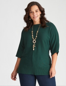 Autograph Knit Extended Sleeve Seamed Front Jumper