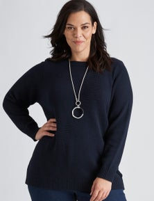 Autograph Knitted Chunky Star Jumper