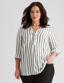 Autograph Woven Texture Stripe Shirt