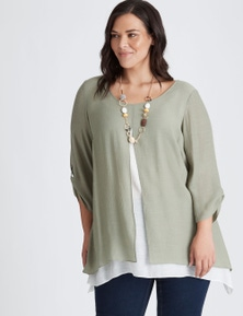 Autograph Woven Double Layer Tunic