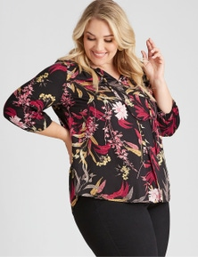 Autograph 3/4 Sleeve Peasant Top