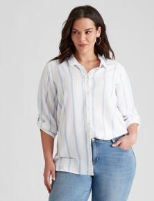 Autograph Woven Stripe Linen Shirt