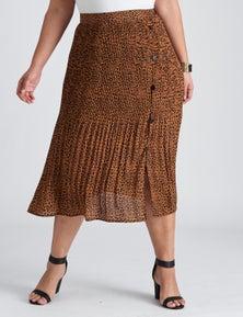Autograph Woven Midi Pleated Skirt