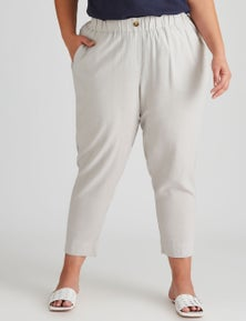 Autograph Woven Pull On Linen Pant