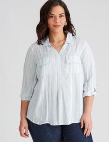 Autograph Woven Long Sleeve Pocket Shirt
