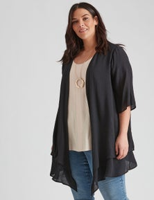 Woven Double Layer Cover Up