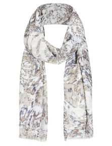 Autograph Printed Fray Scarf