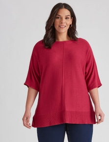 Autograph Knit Seamed Front Jumper