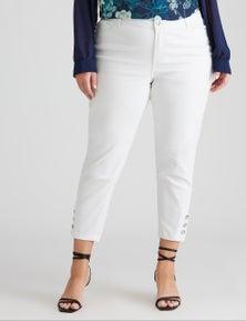 Sara Button Crop Jean