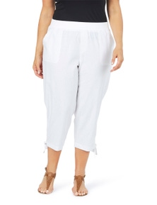 Beme 3/4 Length Linen Pant