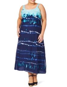 Beme Print Maxi Dress