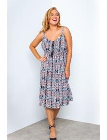 Beme Keyhole Dress with Tassels