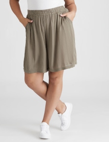 Beme Pull On Lace Trim Short