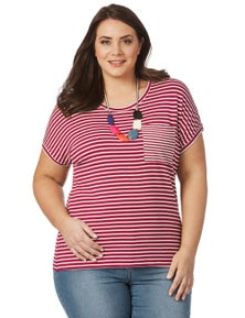 Beme Stripe Top With Pocket