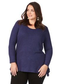 Beme 3/4 Sleeve Pearl Knit Jumper