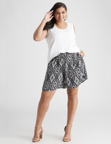 Beme Mono Tribal Print Short