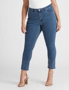Beme Slim Leg Pearl Jean Ankle Length