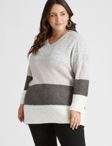 Beme Long Sleeve Colour Block Jumper