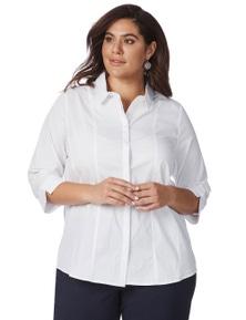 Beme 3/4 Sleeve Button Through Tailored Shirt