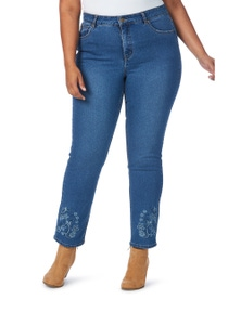 Beme Slim Leg Regular Length Raw Hem Jean